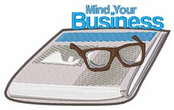 Mind Your Business embroidery design