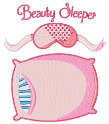 Beauty Sleeper embroidery design