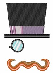 Top Hat Man embroidery design