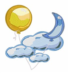Balloon In Sky embroidery design