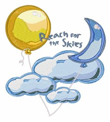 Reach For Skies embroidery design
