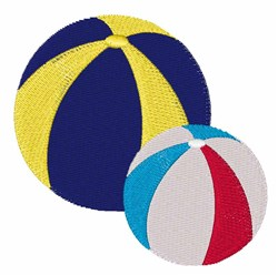 Beach Balls embroidery design