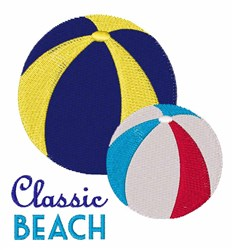 Classic Beach embroidery design