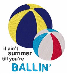 Summer Ballin embroidery design