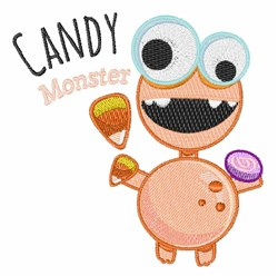 Candy Monster embroidery design