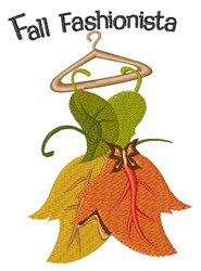 Fall Fashionista embroidery design