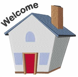 Welcome House embroidery design