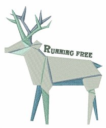 Running Free embroidery design
