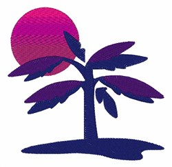 Tropical Tree embroidery design