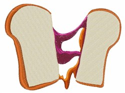 Peanut Butter Jelly Sandwich embroidery design