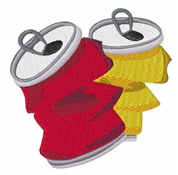 Soda Can embroidery design