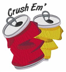 Crush Em embroidery design