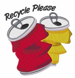 Recycle Please embroidery design
