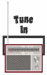 Tune In embroidery design