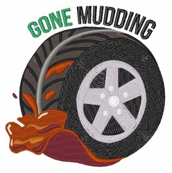 Gone Mudding embroidery design