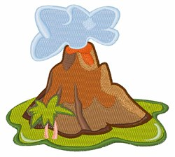 Volcano embroidery design