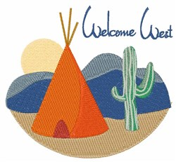 Welcome West embroidery design