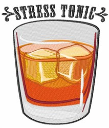 Stress Tonic embroidery design