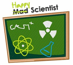 Happy Scientist embroidery design