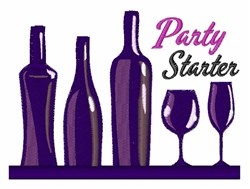 Party Starter embroidery design