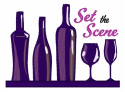 Set The Scene embroidery design