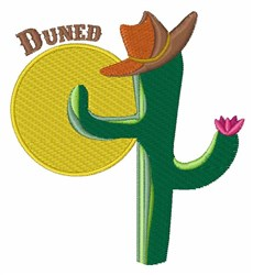 Duned Cactus embroidery design