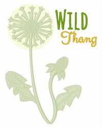 Wild Thang embroidery design