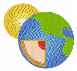 Earth & Sun embroidery design