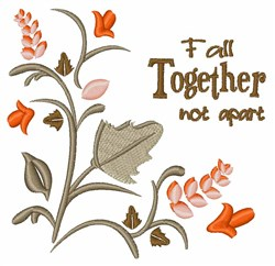 Fall Together embroidery design