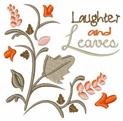 Laughter & Leaves embroidery design