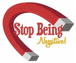 Stop Negative embroidery design