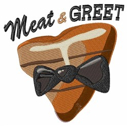 Meat & Greet embroidery design