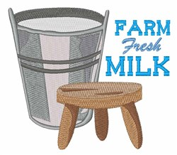 Fresh Milk embroidery design