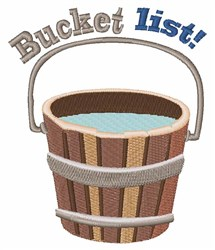 Bucket List embroidery design