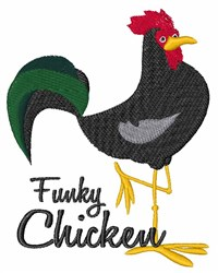 Funky Chicken embroidery design