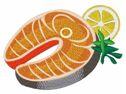 Salmon Dinner embroidery design