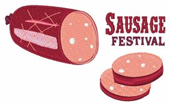 Sausage Festival embroidery design