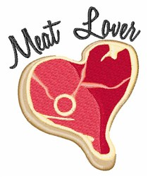 Meat Lover embroidery design