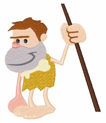 Cave Man embroidery design