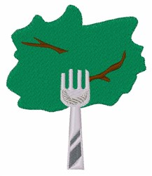 Lettuce On Fork embroidery design