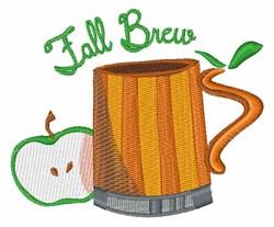 Fall Brew embroidery design