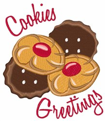 Cookies Greetings embroidery design