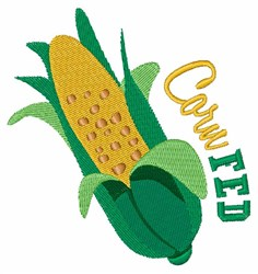 Corn Fed embroidery design