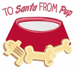 To Santa embroidery design