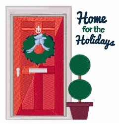 Home For Holidays embroidery design