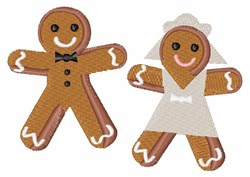 Gingerbread Wedding embroidery design
