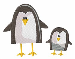Two Penguins embroidery design