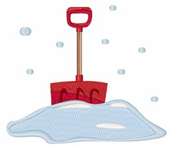 Snow Shovel embroidery design