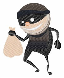 Funny Thief embroidery design