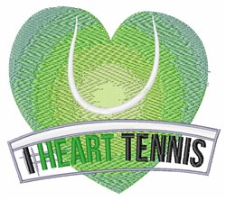 I Heart Tennis embroidery design